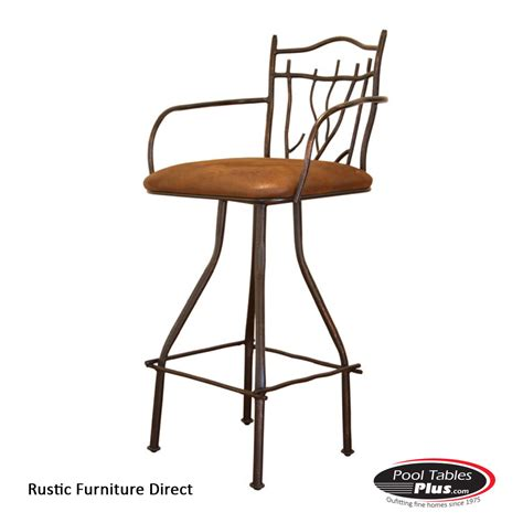 Rustic Iron Bar Stools by Rustic Swivel R54arm Barstool