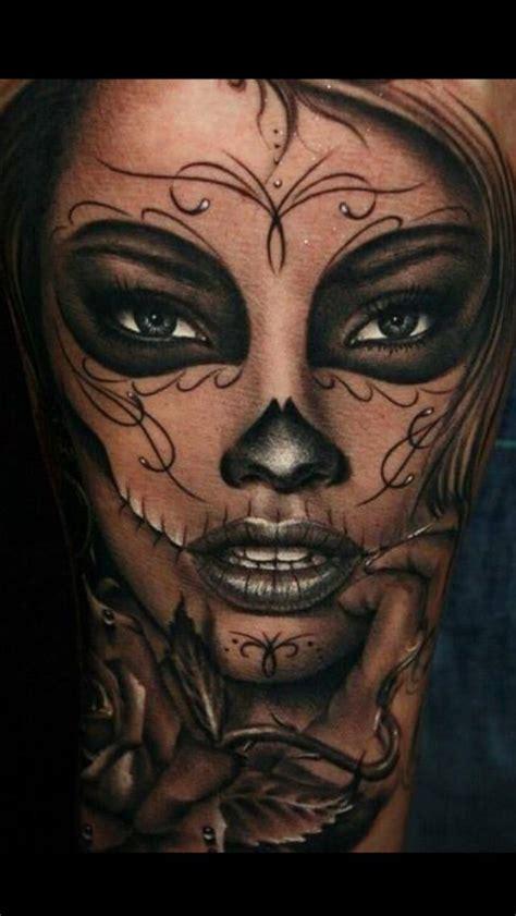 Full face tattoo girl russian