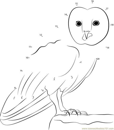 owl dot to dot printable great horned owl dot to dot printable worksheet connect