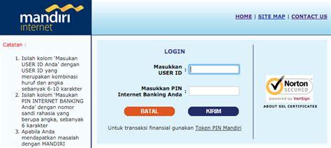 email mandiri di internet banking bank mandiri ternyata tidak bisa