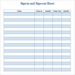 doc 585610 sign out sheet template sign out sheet