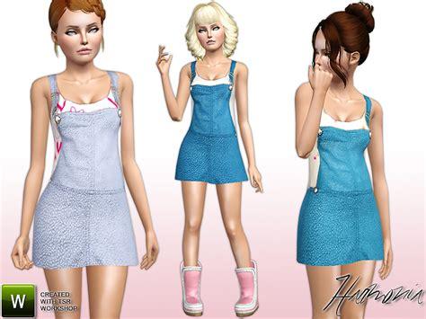 sims 3 teen clothes harmonia s teen overall denim look dress