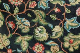 floral tapestry fabric black heavy upholstery fabric
