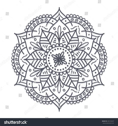 tattoo mandala oriental vector henna flower tattoo mandala mehndi stock vector