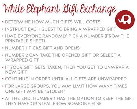 printable numbers for gift exchange madebycristnamarie com white elephant printables
