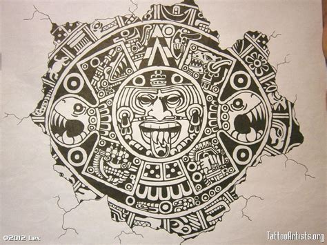 aztec calendar tattoo design aztec calendar wallpapers wallpaper cave