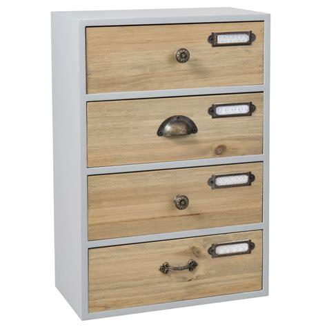 Drawer Storage Boxes by Grey 4 Drawer Storage Box Maisons Du Monde