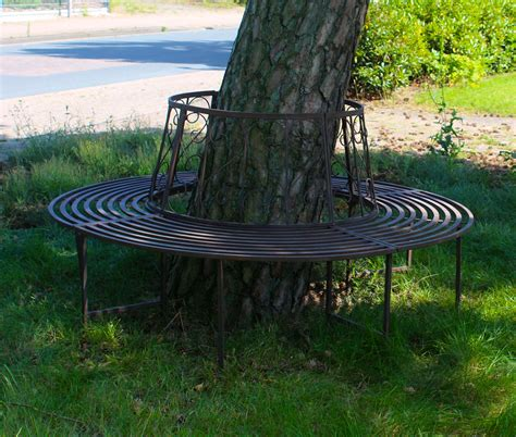 wrought iron tree bench tree bench wrought iron round 360 176 216 161cm garden