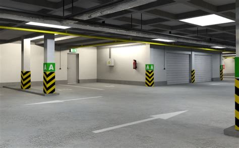 underground parking garage underground parking garage 01 3d model buy underground