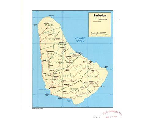 political map of barbados detailed administrative map of barbados barbados detailed