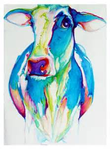 colorful cow painting water color cow