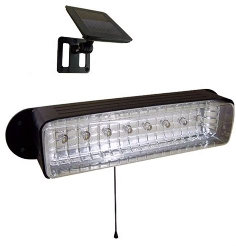 Solar Powered 8 Led Shed Light With Rechargeable Batteries Batteries For Solar Lights Outdoor