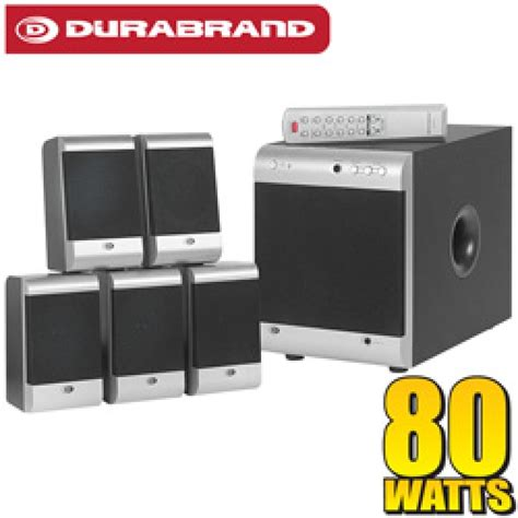 durabrand 5 1 surround sound home theatre speaker system