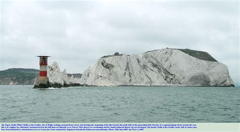 needles uk geology of the needles isle of wight new version by ian