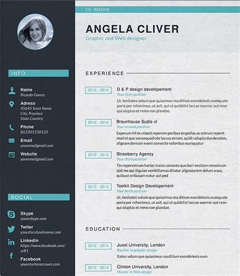 graphic resume templates designer resume template 9 free sles exles