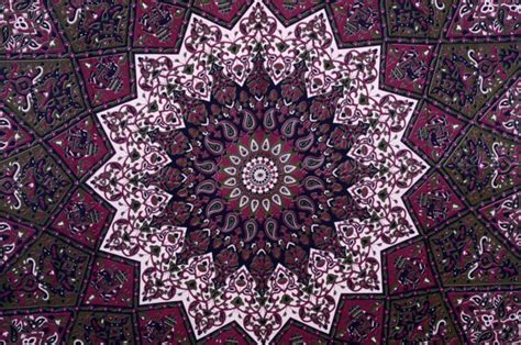 Elephant Print Duvet Cover Maroon Star Tapestry Wall Hanging Hippie Tapestries Wall