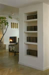 Bookshelves on pinterest recessed shelves built ins and