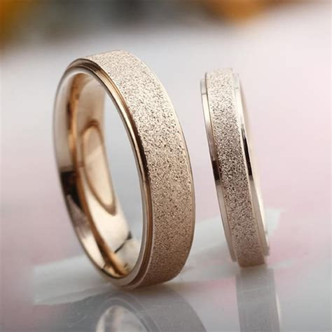 Stardust Ring Engagement Ring sets Titanium Steel Korean