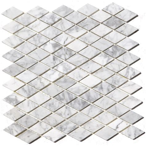 buy 12x12 arabescato carrara rhomboid polished