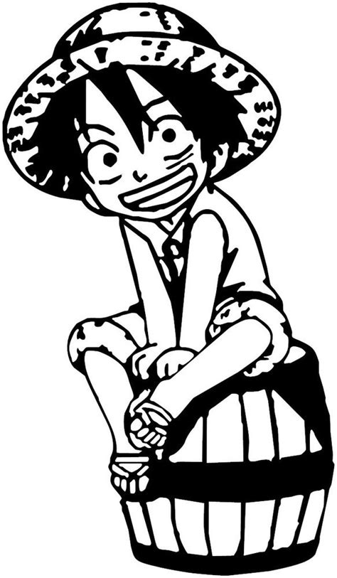 Car Sticker One Piece by One Piece Monkey D Luffy Chibi Anime Decal Sticker For