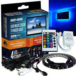 led beleuchtung tv genssi tv glow led kit accent remote lights