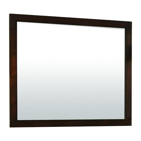 lowes bathroom mirrors shop allen roth tanglewood 36 in h x 30 in w espresso
