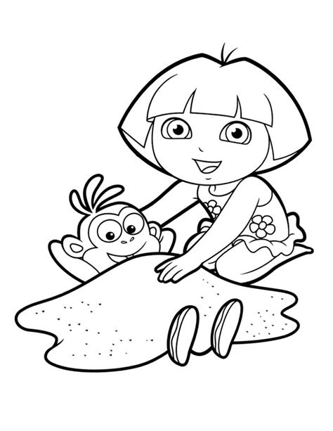 printable coloring pages dora and boots 57 dora and boots coloring pages dora coloring lots of