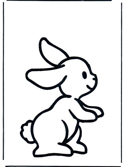 konijntje 1 kleurplaten knaagdieren