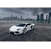 Wallpaper Aventador Lamborghini Supercar White City