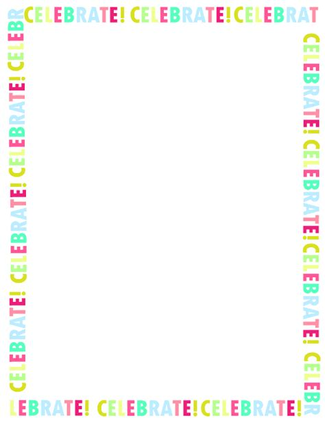 Fresh Designs Birthday Borders For Invitations And More Free Printable Birthday Borders And Frames