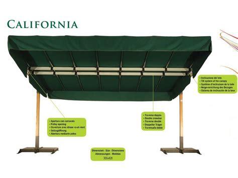 Parasol Déporté Orientable Et Inclinable by Parasol Orientable En Aluminium California Graphite By Fim