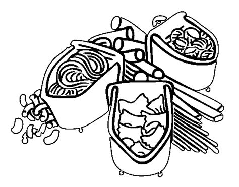 Free Coloring Pages Of Bowl Of Pasta Pasta Coloring Pages