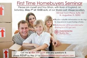 Time Home Buyer Florida Criteria Faqs Florida by Home Buyers Seminar St Augustine Journal For World