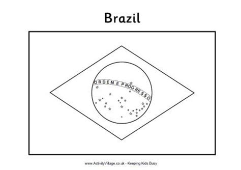 brazilian flag coloring page all flag
