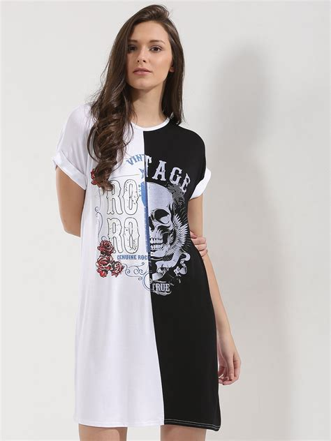 Print Sleeve T Shirt Dress buy parisian contrast print turn up sleeve t shirt dress