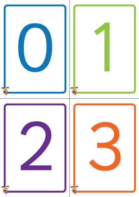 Number Cards 0 9 Template by S Pet Colourful Number Cards 0 50 Free