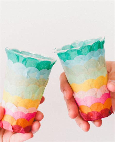 Decorating Plastic Cups paper confetti cups a subtle revelry