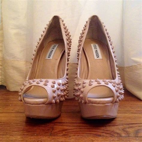 73 steve madden shoes steve madden andiie spiked pumps in blush sz 7 5 from s