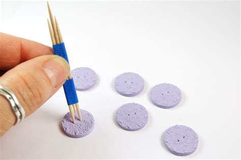 how to make a batton how to make polymer clay buttons the blue bottle tree