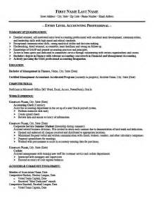 Entry Level Resume Exles by Entry Level Accounting Resume Templates Entry Level Accountant Resume