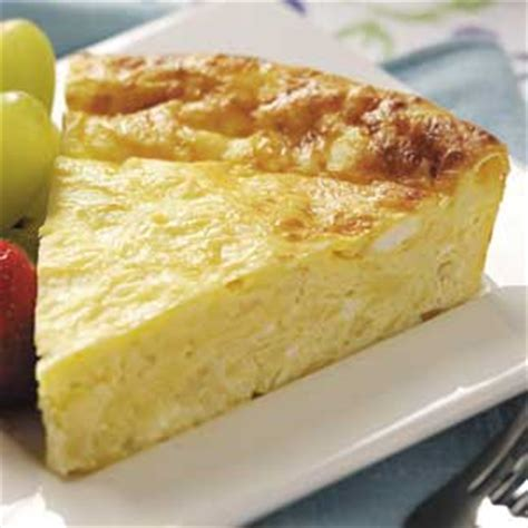 Crustless Quiche With Cottage Cheese by Crustless Four Cheese Quiche Recipe Taste Of Home
