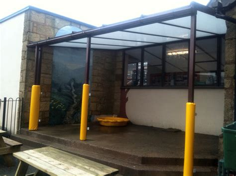 Wall Mounted Awnings Canopies Minera Aided Primary School Wrexham Wall Mounted Canopy