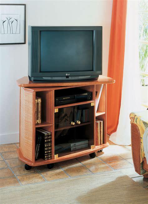 meuble de tv meuble tv pivotant en rotin brin d ouest