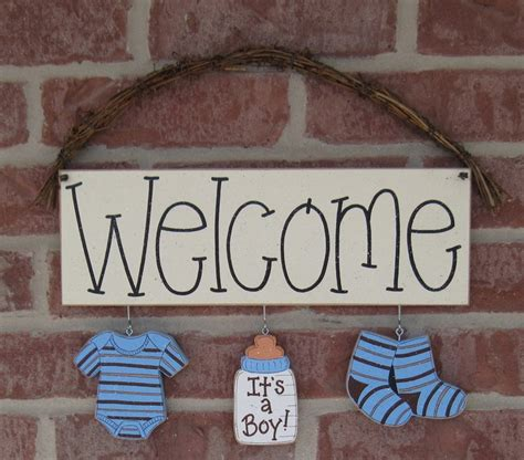 baby home decor welcome its a boy decorations no sign included for
