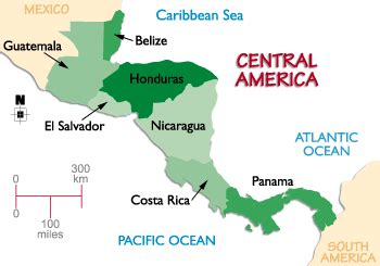 Central America Map In Spanish by Interactive Map Of Central America