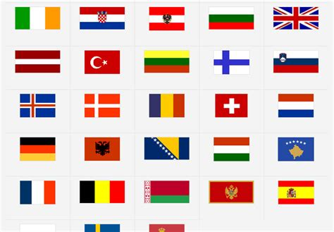 flags of the world game printable europe flags map quiz game