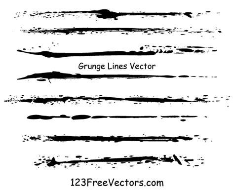 vector line art tutorial illustrator grunge lines vector illustrator by 123freevectors on