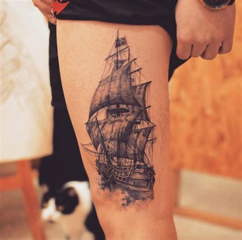 ship tattoos for men 50 amazing ship tattoos you won t believe are real