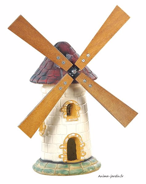 moulin a vent pour jardin moulin de jardin tuile d 233 coration de jardin 56cm achat pas cher