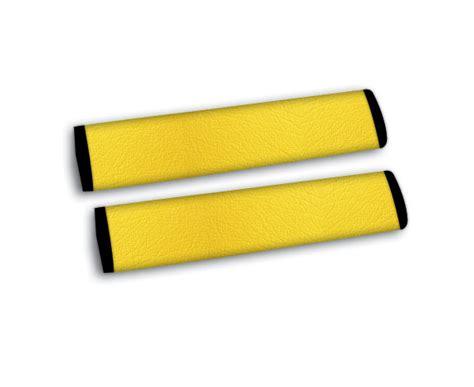 yellow car seat belts s leather yellow seat belt shoulder pad seatbelt cover ebay